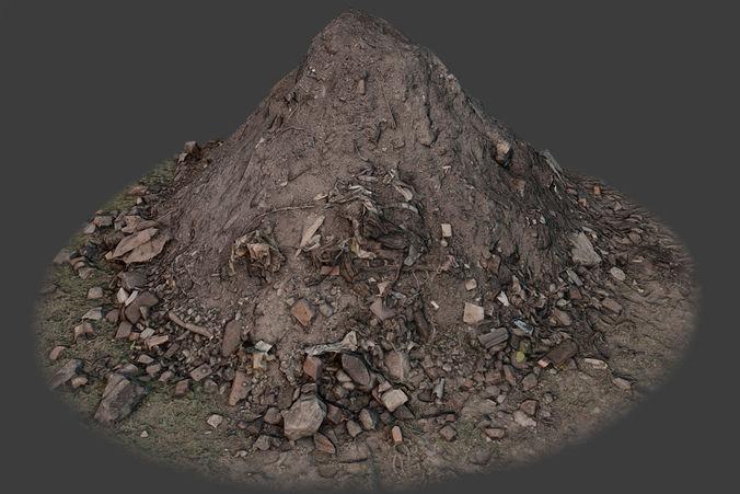 garbage pile 3d model low-poly max obj mtl fbx tga 1