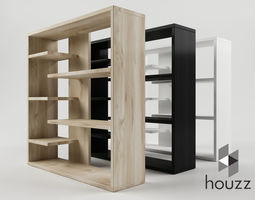 Homestar 6 Shelf Storage Bookcase 3D