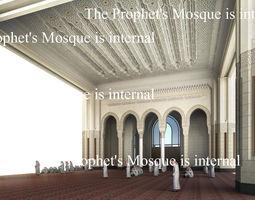 The Prophets Mosque internal 3D