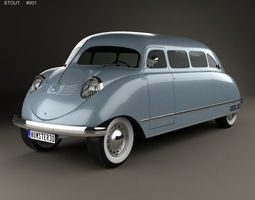3D model Stout Scarab 1936 mpv