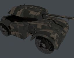 3D model The armored car Staghound III