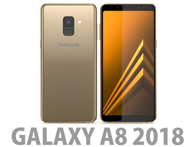 3d Model Samsung Galaxy A8 2018 Gold Cgtrader