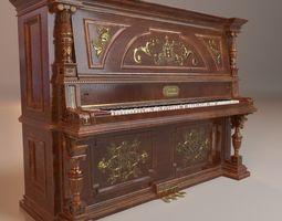 3D asset realtime PBR Vintage Piano