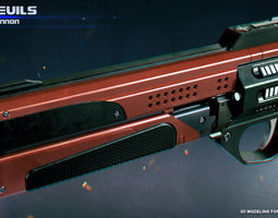3D printable model Better Devils Legendary Hand Cannon