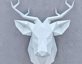poligon 3D model SMOLL DEER PAPER HEAD