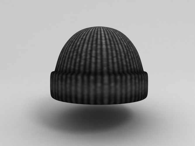 wool hat 3d model low-poly max obj mtl fbx 1