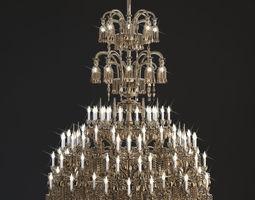 Baccarat chandelier 3D