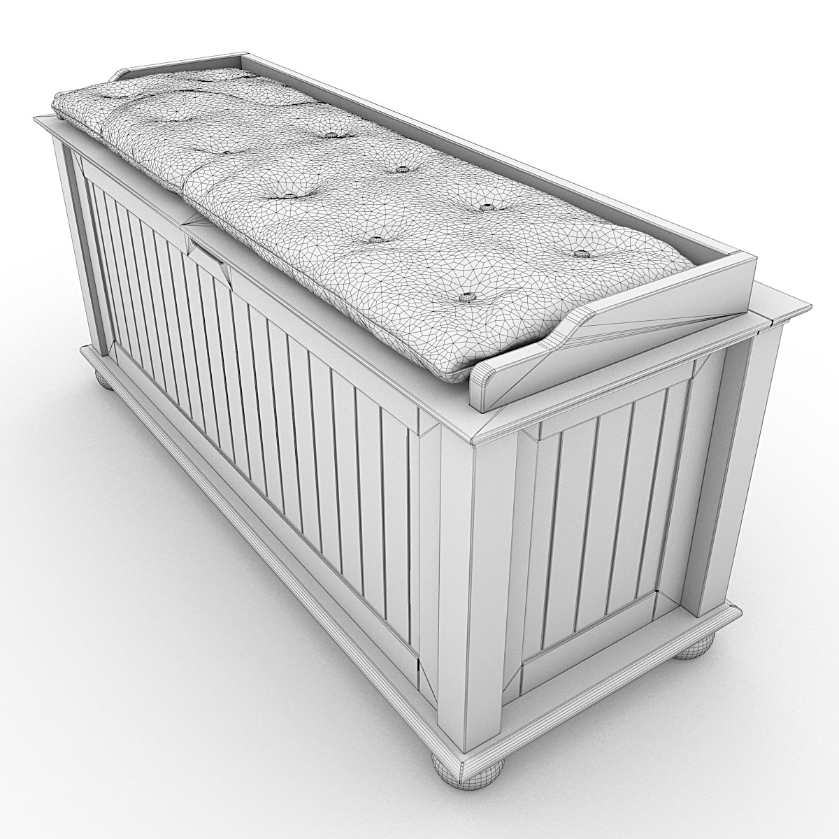 Storage Bench With Cushion 02 3d Model Max Obj 3ds Lwo