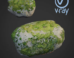 3d scanned nature stone 41 realtime
