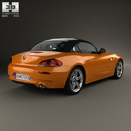 Bmw Z4 Convertible Sports Car: BMW Z4 E89 Roadster 2013 3D Model .max .obj .3ds .fbx .c4d