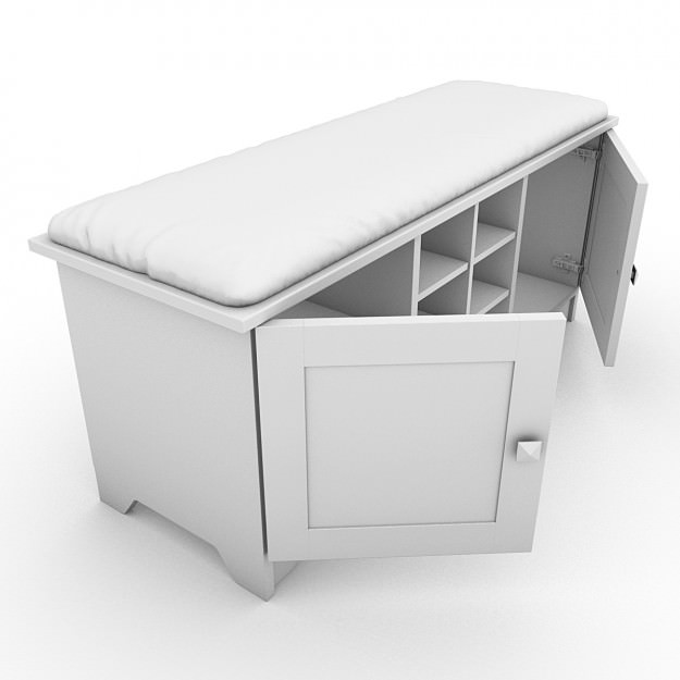 Storage bench with cushion 03 3d model max obj 3ds lwo lw lws Storage bench with cushion