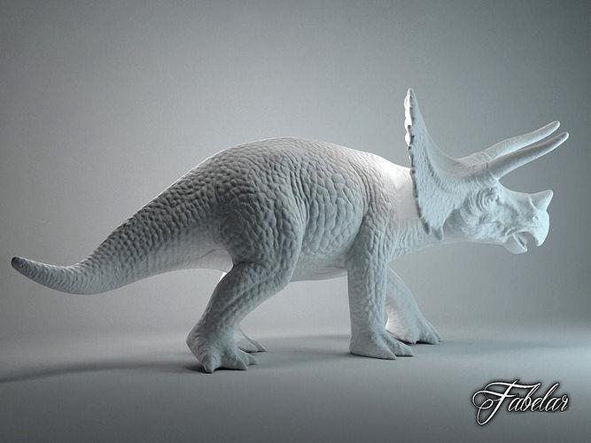 triceratops free printable 3d model stl 1