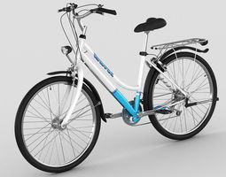 generic woman s bicycle 3d model