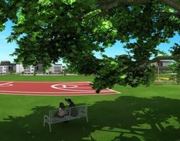 3D Basketball court propsscenes