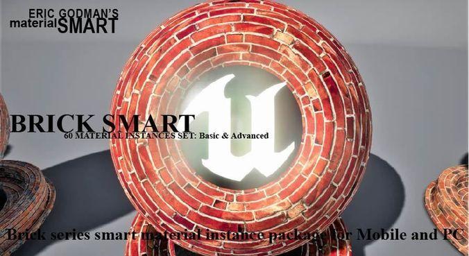 brick materials 3d model  1