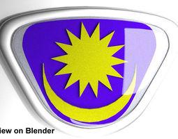 Crest Logo Proton Car (classic design) 3D Model