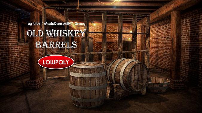 Wooden Whiskey Barrels