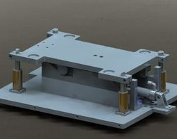 Automatic up and down feeding platform 3D