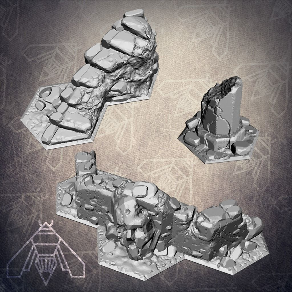 Shadespire Terrain Set | 3D Print Model