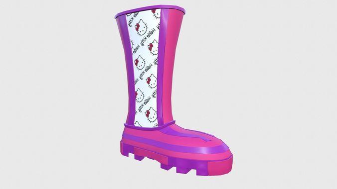 boots harmony 3d model low-poly obj 3ds fbx blend 1