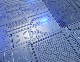 Sci-Fi Floors Pack 3D asset VR / AR ready