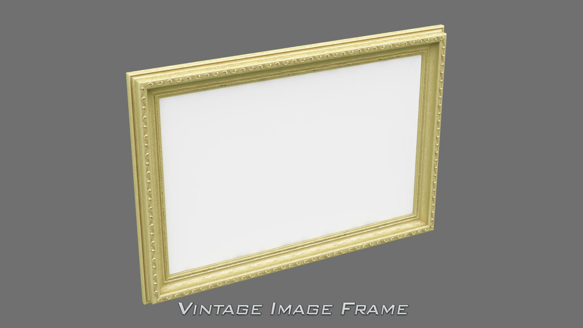 Picture frame 3d models cgtrader 3d vintage image frame jeuxipadfo Images