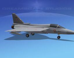 hal tejas fighter v01 rigged game-ready 3d model