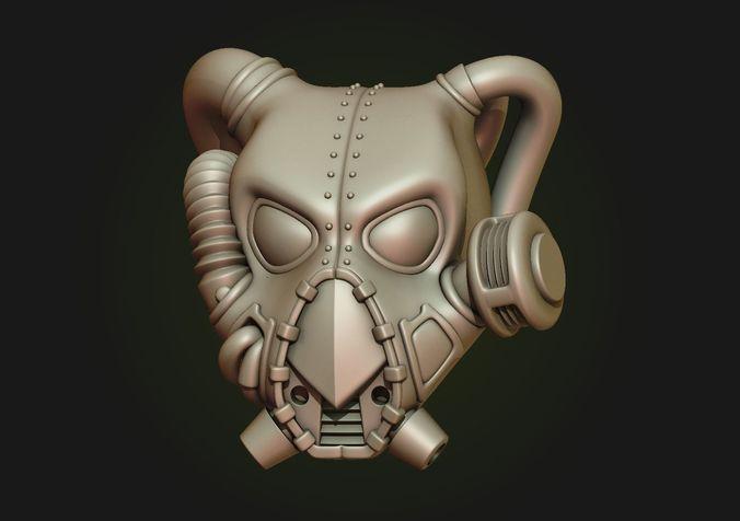 power armor helmet 3d model obj mtl fbx stl blend 1
