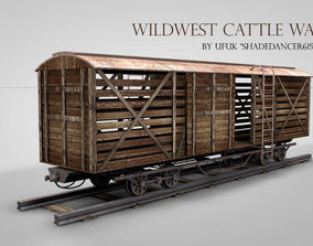 Western Cattle Wagon 3D