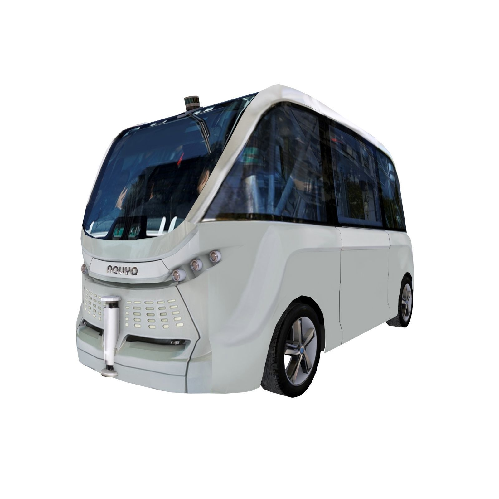 Driverless shuttle bus Navya Arma low polygon