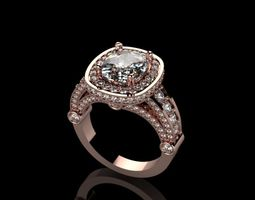 Womens ring with diamonds 3D print model