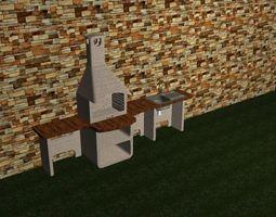 Exterior Barbecue 3D asset