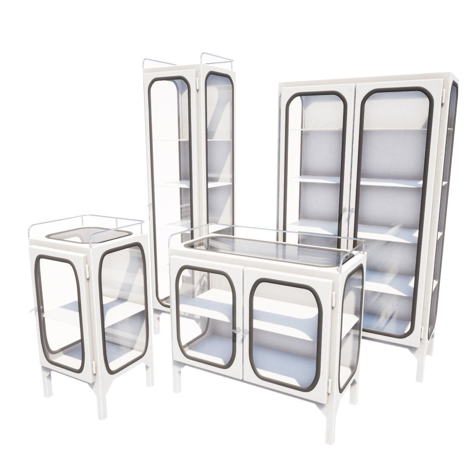 Set of Doctors cabinets