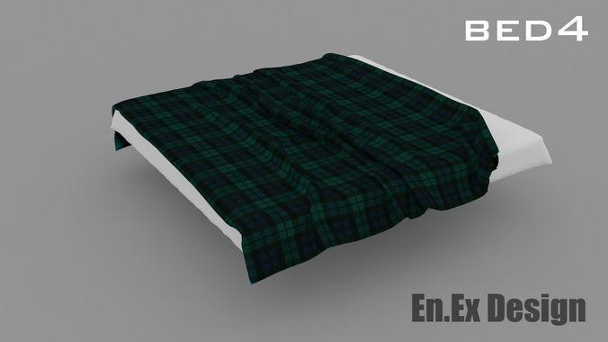 bed 43D model