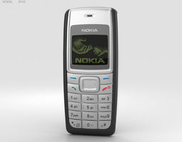 3D low-cost Nokia 1110 Black