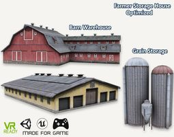 Barn House Warehouse and Grain Storage 3D model