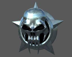 Skull Badge LowPoly 3D model