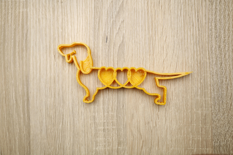 Cookie shape dog dachshund
