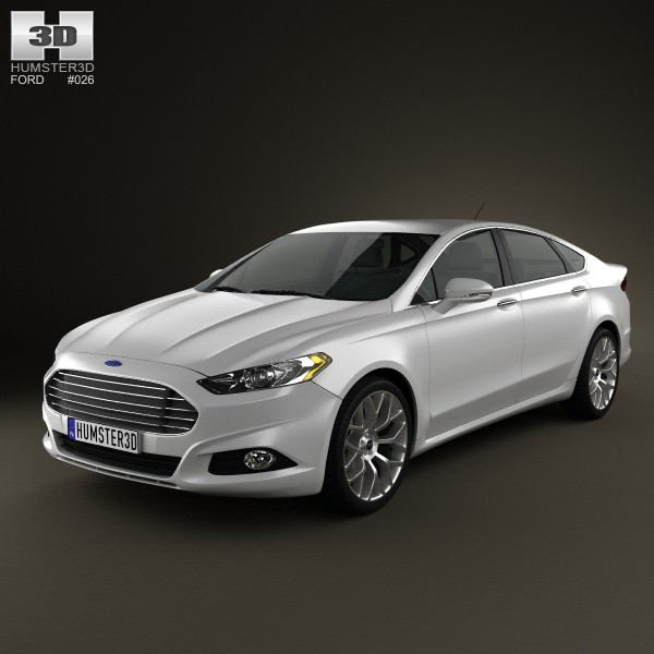 2013 Ford Fusion Exterior: Ford Fusion 2013 3D Model Game Ready .max .obj .3ds .fbx