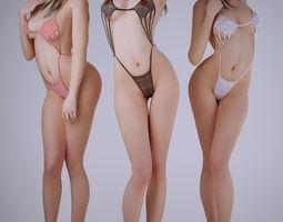 Bikini sexy girl 3D Model