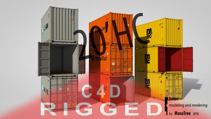 Shipping Container 20ft High Cube rigged