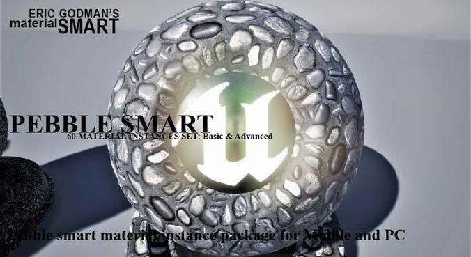 pebble materials 3d model  1