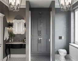 Bathroom 3d model visualization