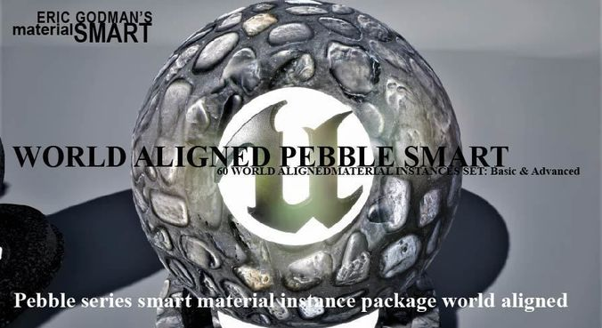 pebble world aligned materials 3d model uasset 1