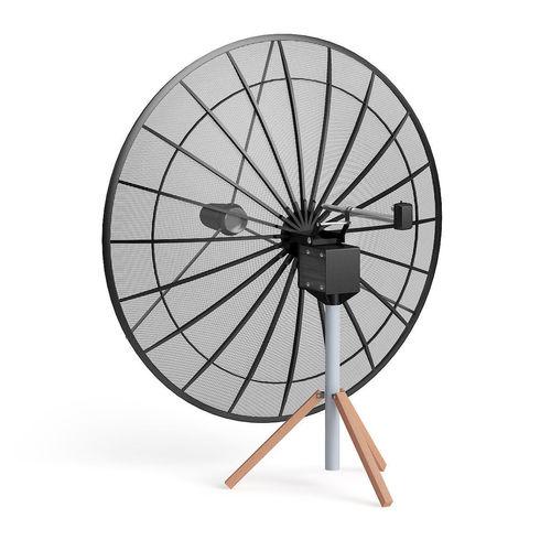 black satellite dish 3d model 3d model max obj mtl fbx c4d 1