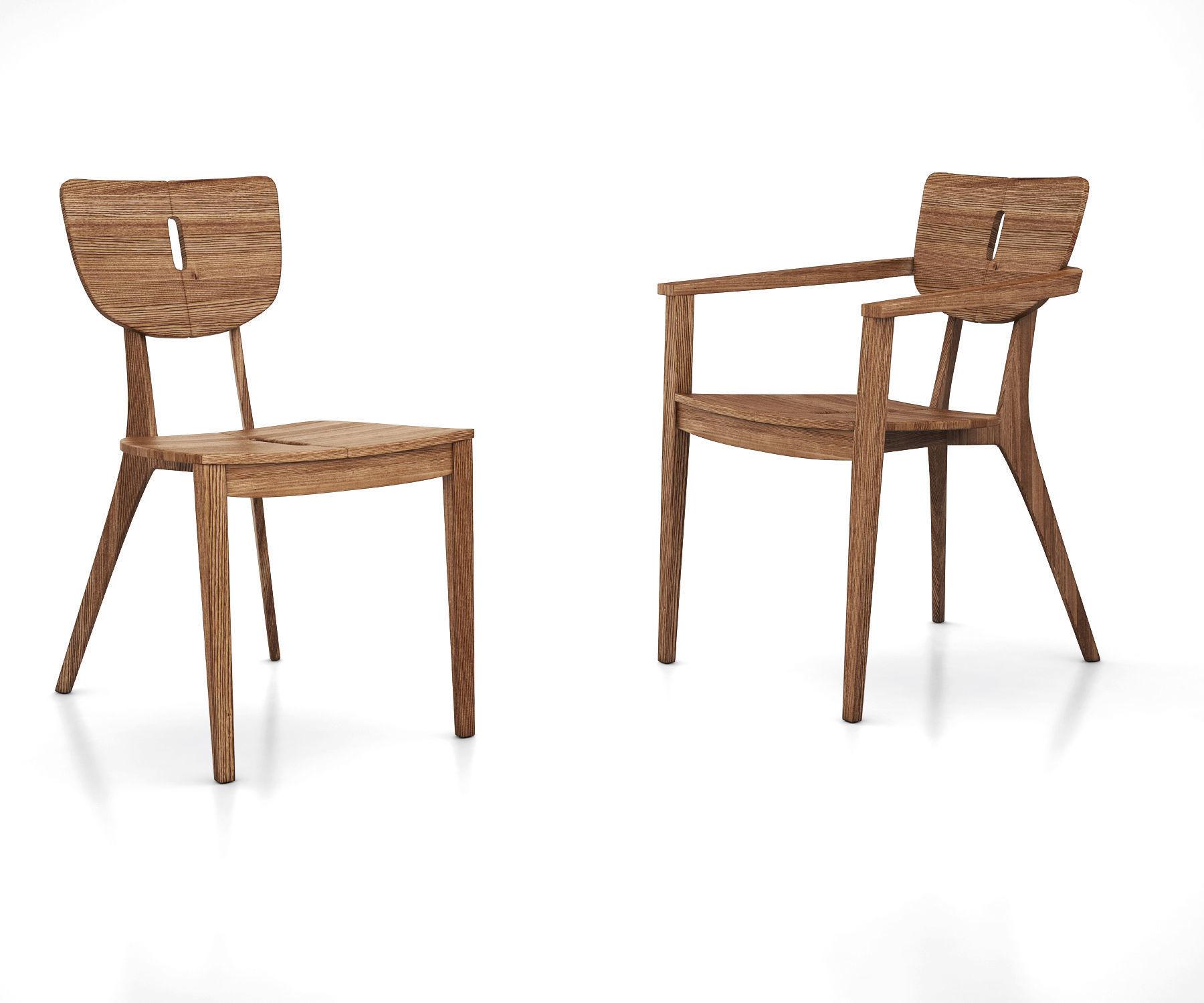 Diuna Teak Chair And Armchair By Oasiq 3d Model Max Obj Mtl Tga 1
