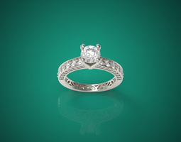 Diamond Ring nnjw 3D Model