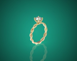 Diamond ring nnjw1 3D Model
