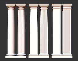 3D asset Classical tuscan columns and pillars