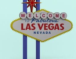 america Las Vegas Sign 3D